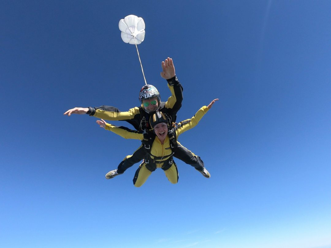 Libby Raised £400 for her sponsored skydive