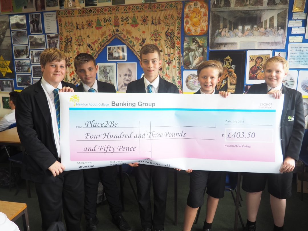 C8 tutor group raised money for Place2Be with their annual sponsored swim