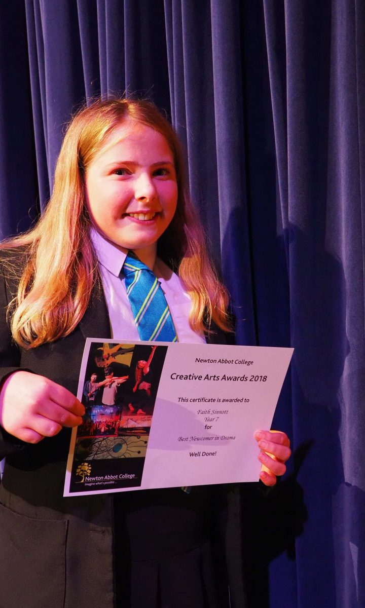 Creative Arts Awards Newton Abbot College Ofsted Good Secondary School 9