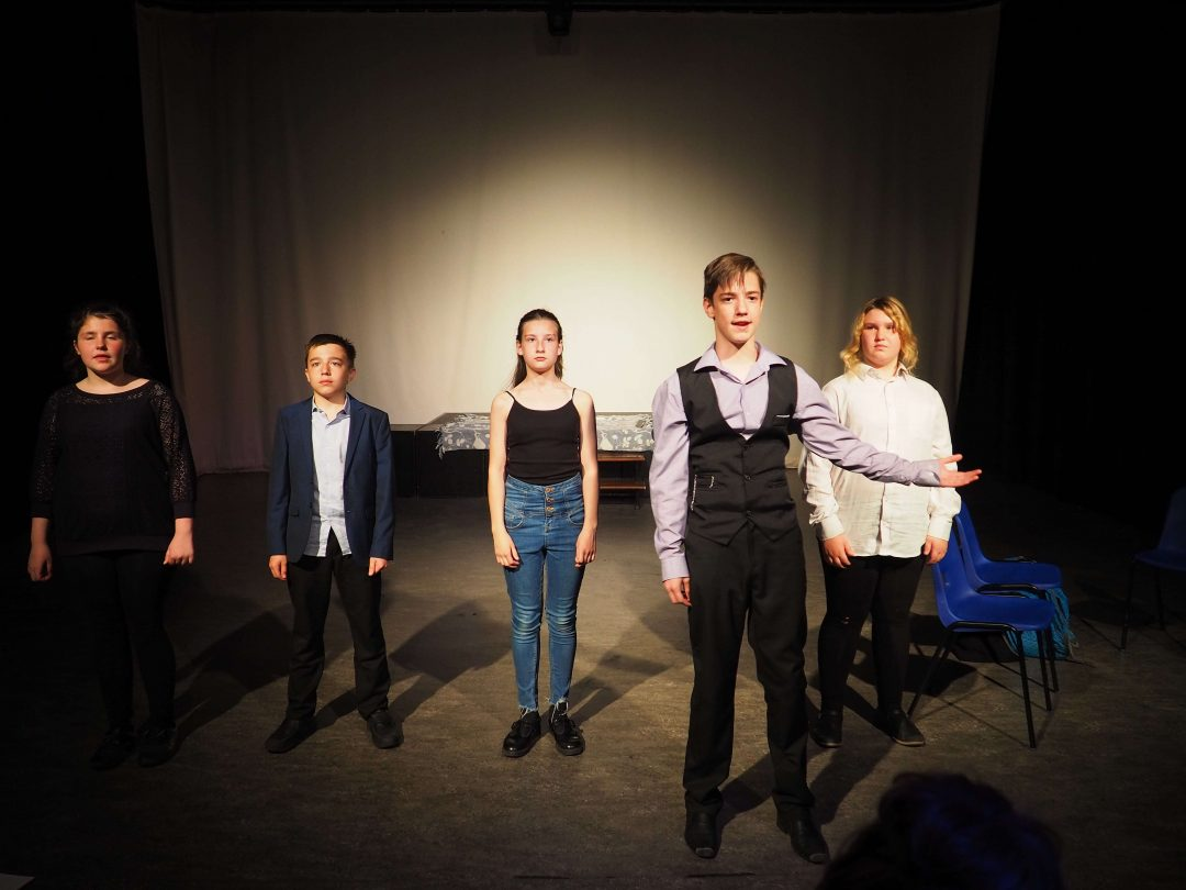 The performance included powerful monologues and group pieces