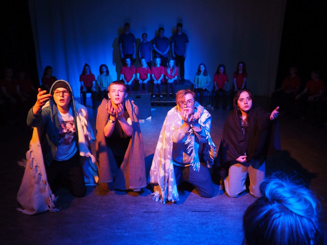 Students of multiple years came together to produce the performance 'Rough Justice'