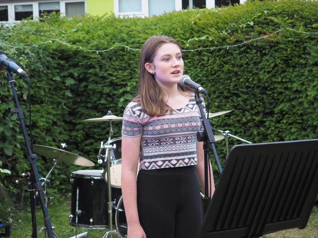 Amber Blackshaw performing a number from 'Hamilton'