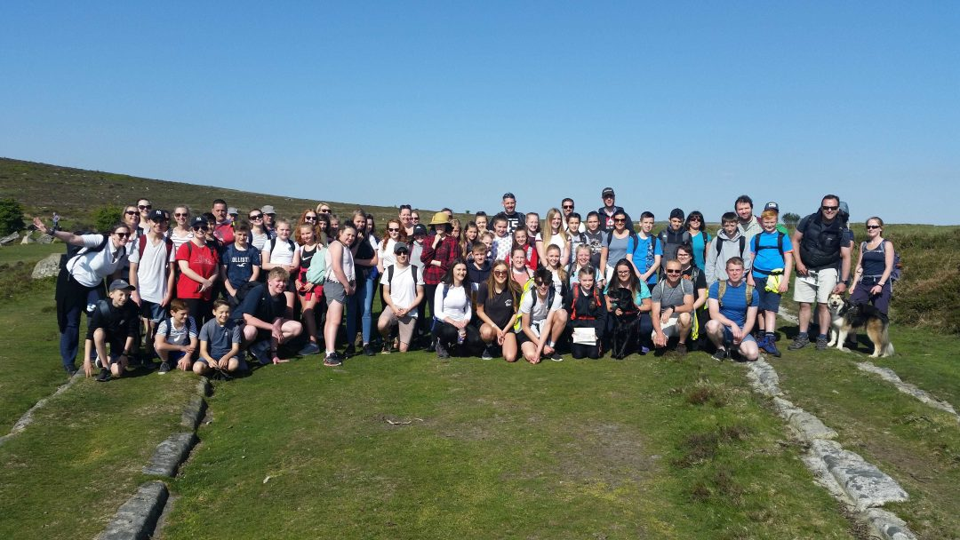 Templer Way challenge sponsored walkers gather at Haytor