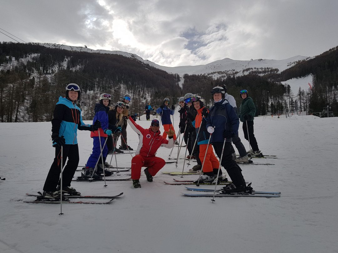 Students enjoyed six full days in ski school to improve their skills