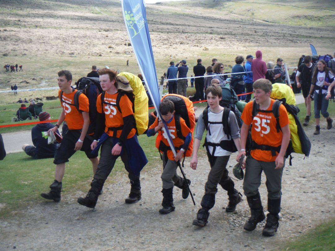 The College's 35 mile Ten Tors Team at the finish line