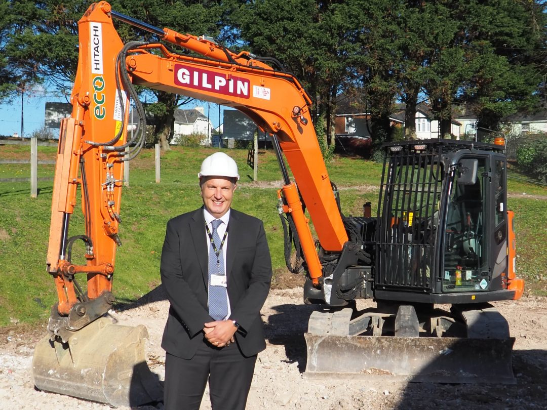 College Business Manager, Nick Hill, at the site of the old 'temporary' buildings