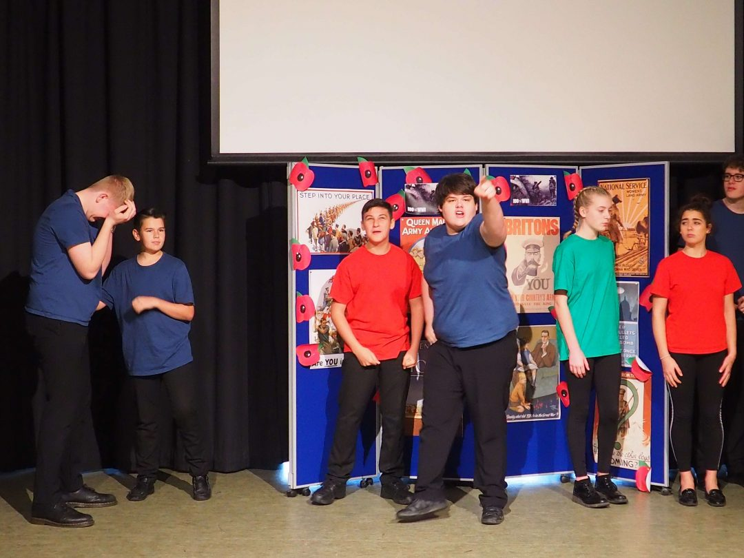 Year 10 students put on a powerful piece of drama