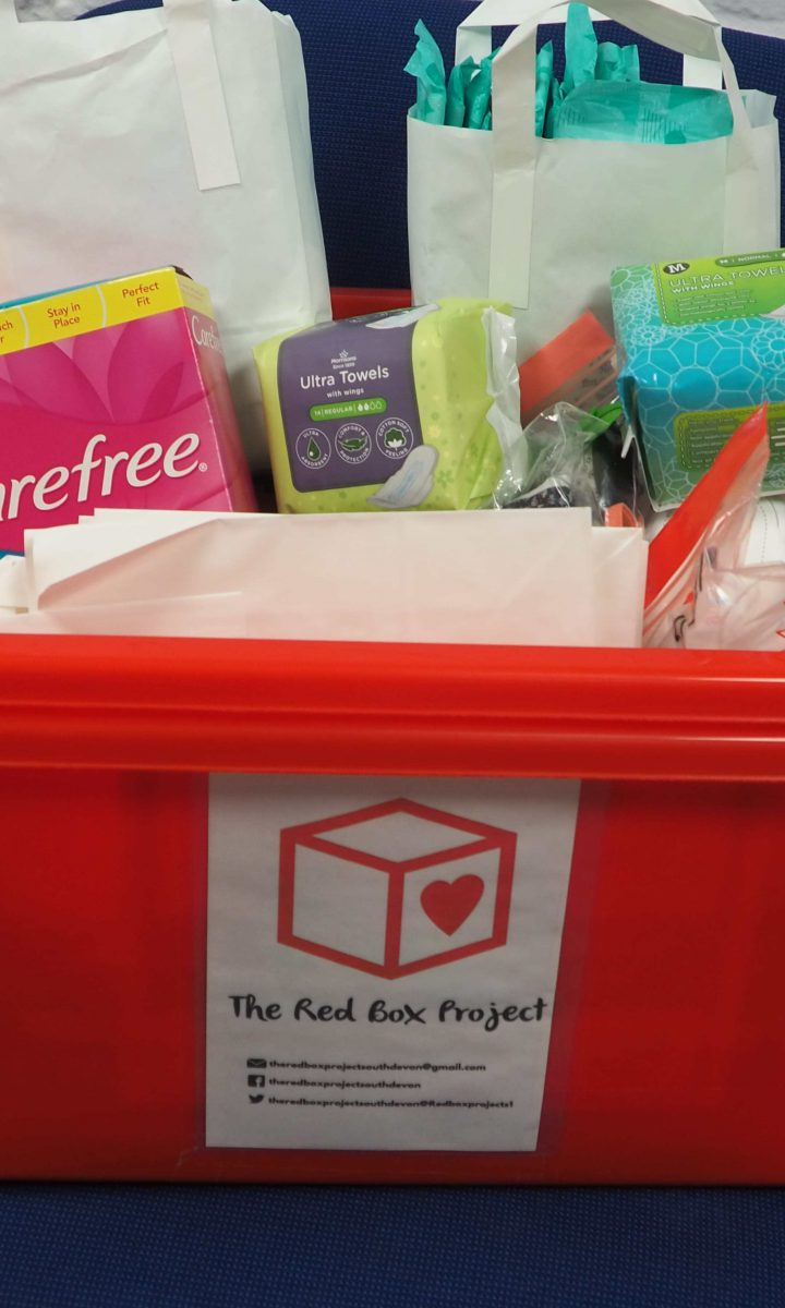 Red Box Project Period Poverty Newton Abbot College Ofsted Good Secondary School 1