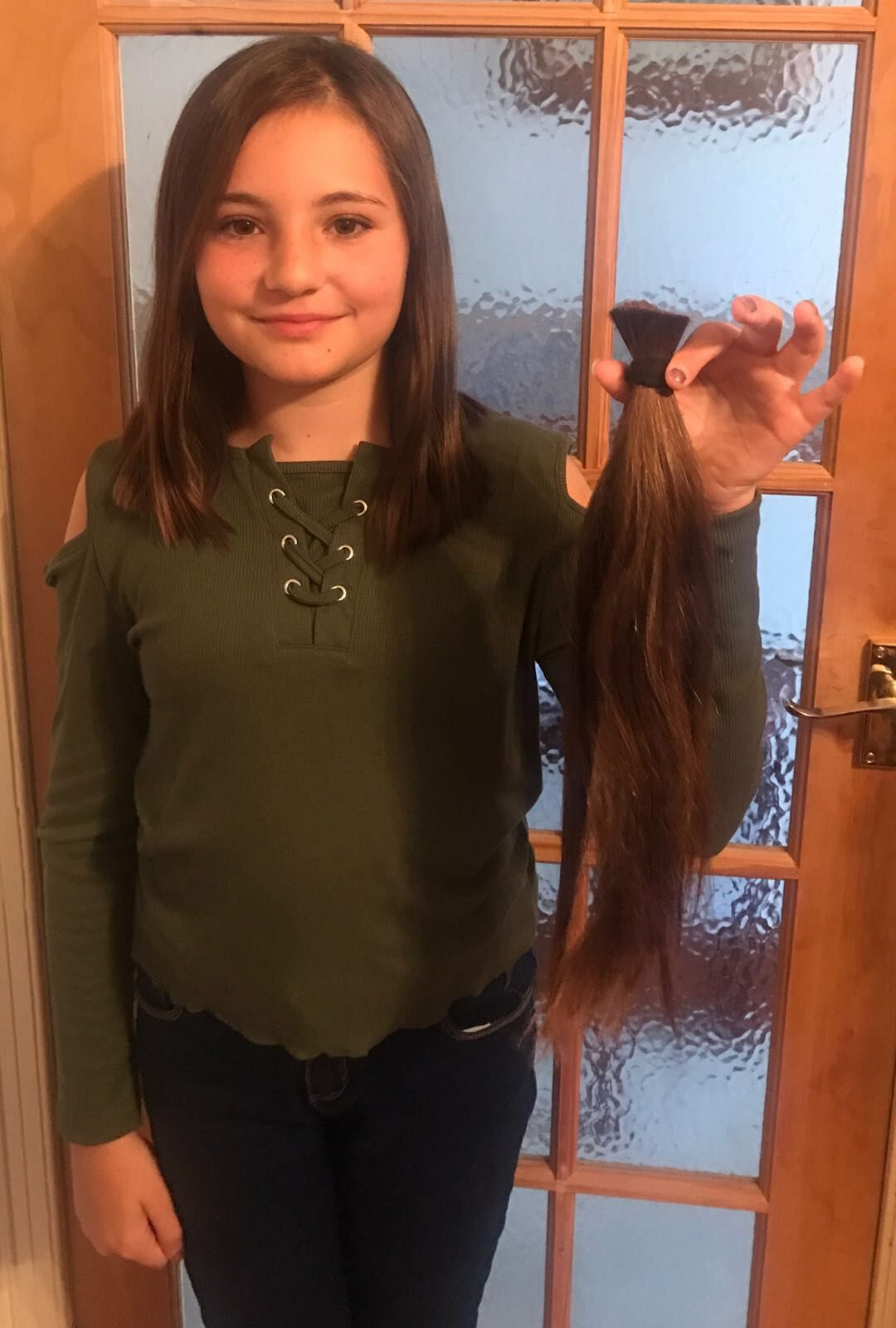 Ruby cut 14 inches off her hair