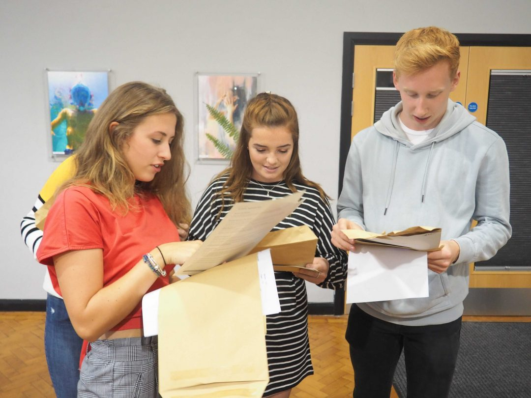 Students opened their results