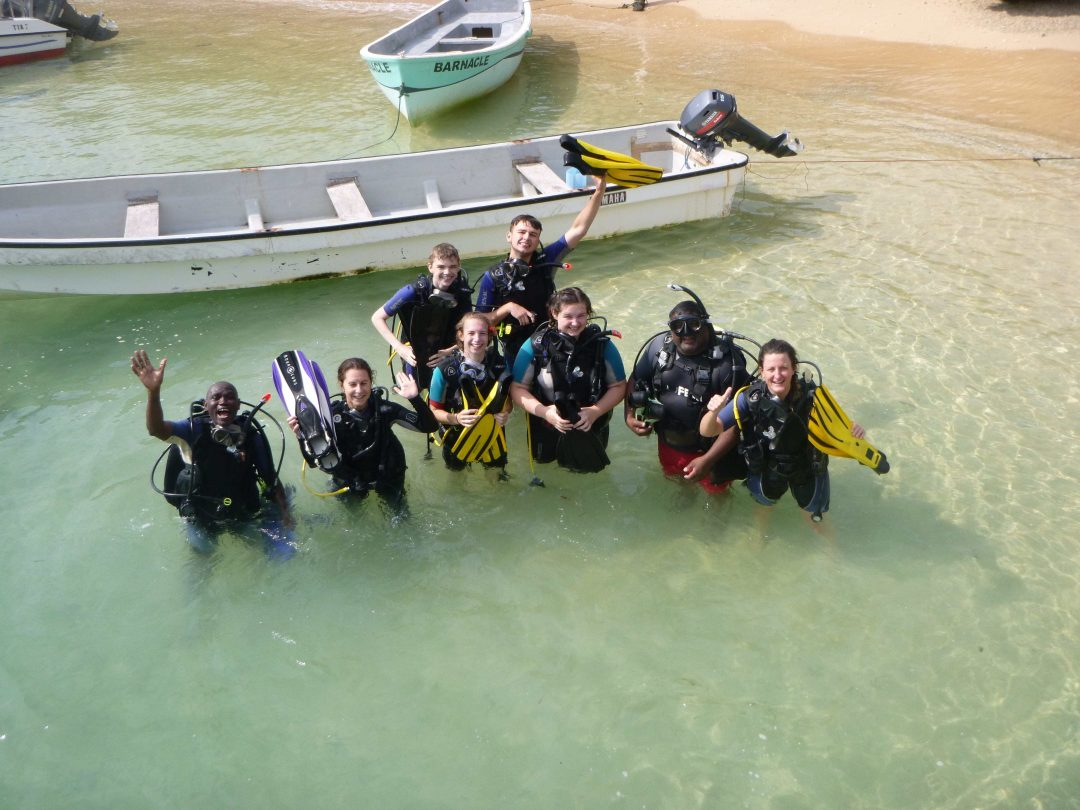 Students completed a scuba diving course