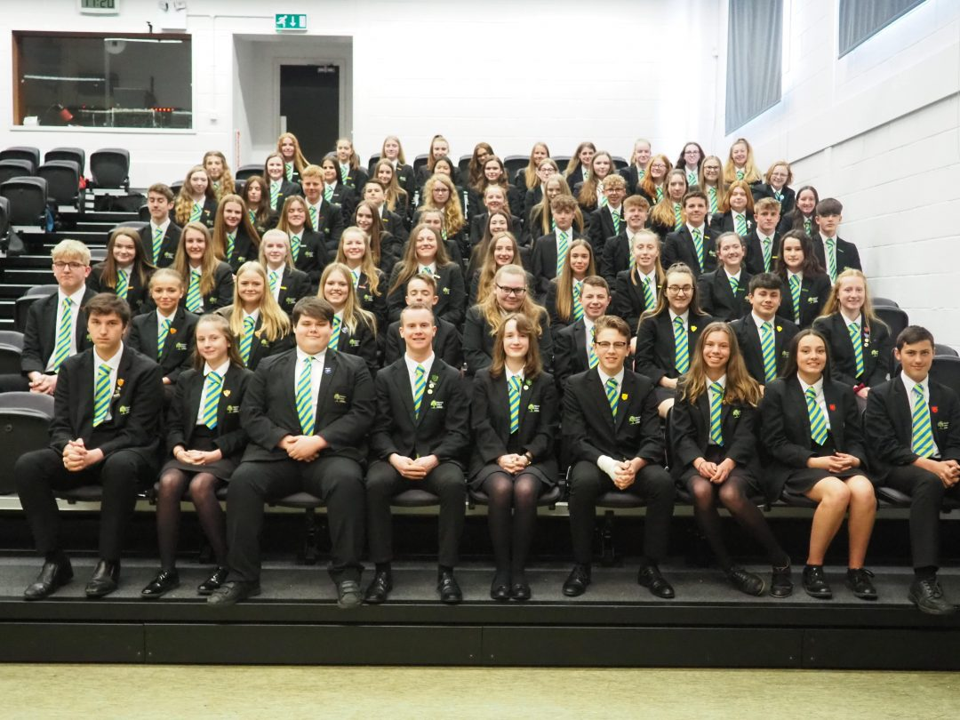 The newly appointed Year 10 prefect body
