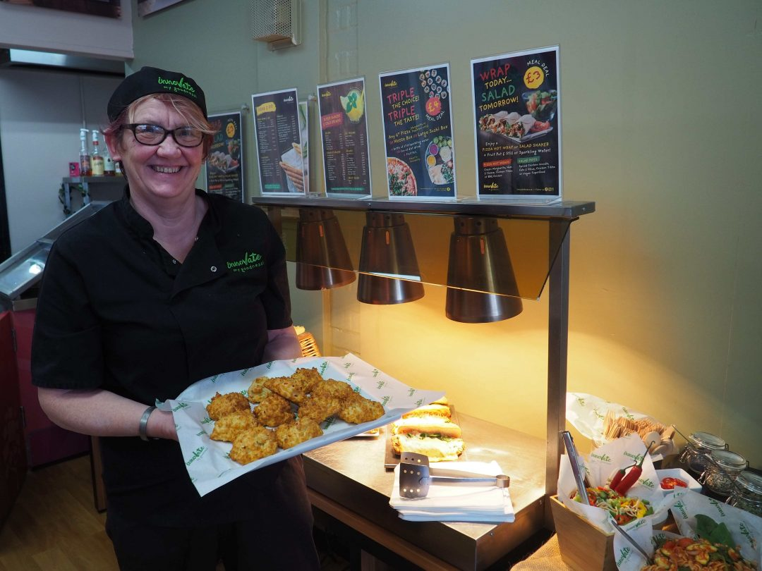 College Catering Manager, Sue Lewis