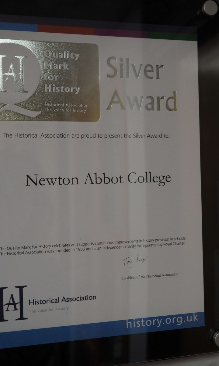 Historical Association Silver Mark Award Newton Abbot College Ofsted Good Secondary School 1