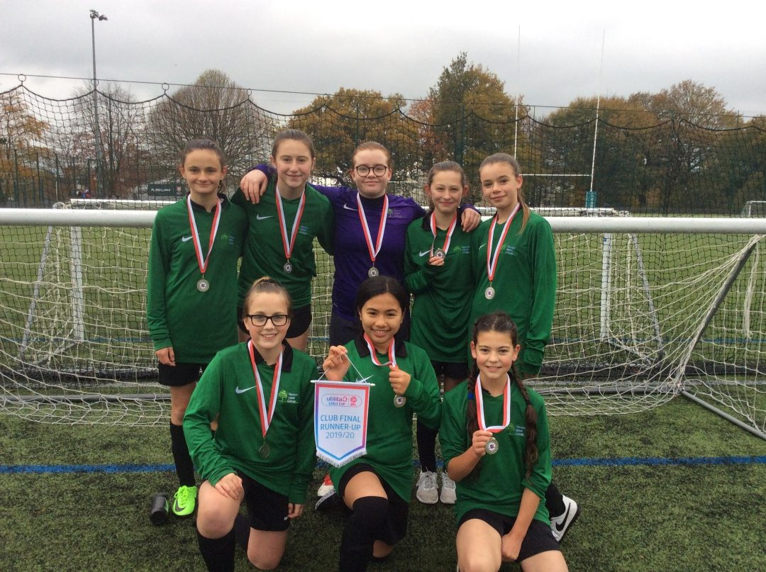 The silver-medal winning team comprised sportswomen from Years 7 & 8