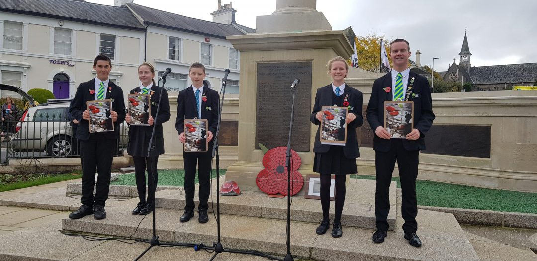 Students were honoured to read out the names of the local fallen