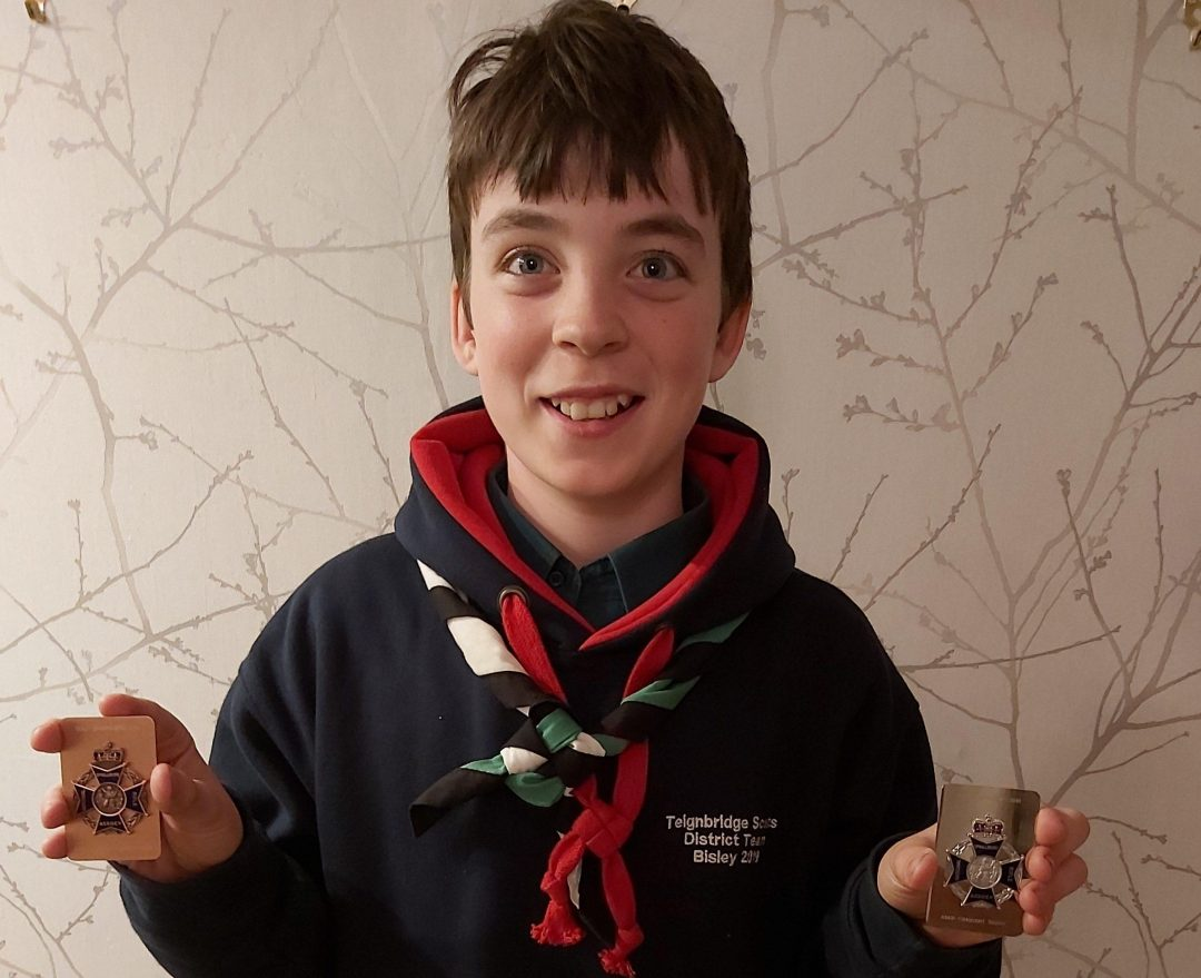 William with his championship medals