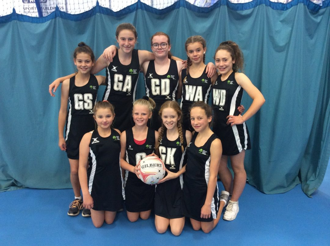 The newly-formed Year 7 netball team