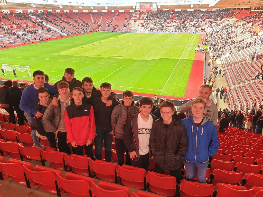 Students enjoyed the Southampton versus Chelsea match