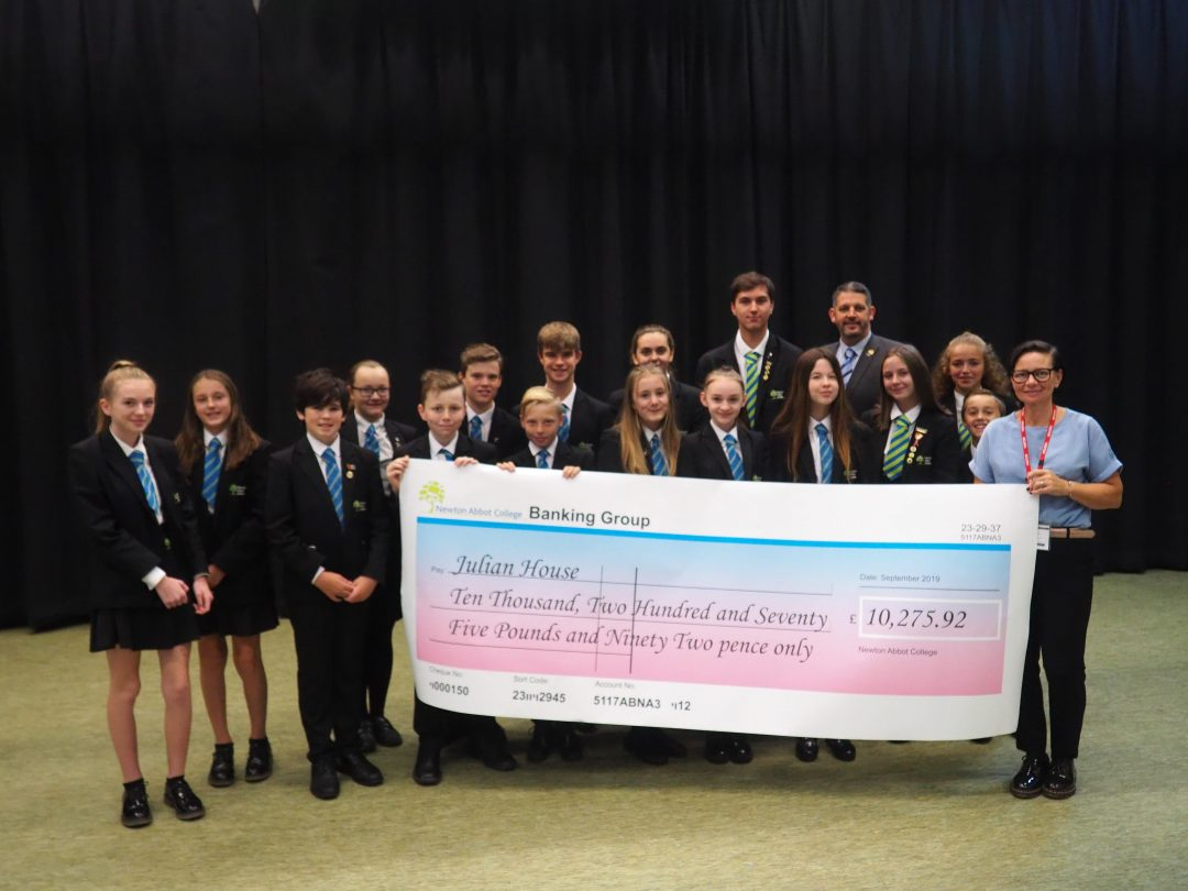 The College was proud to present a cheque of over £10k to Julian House