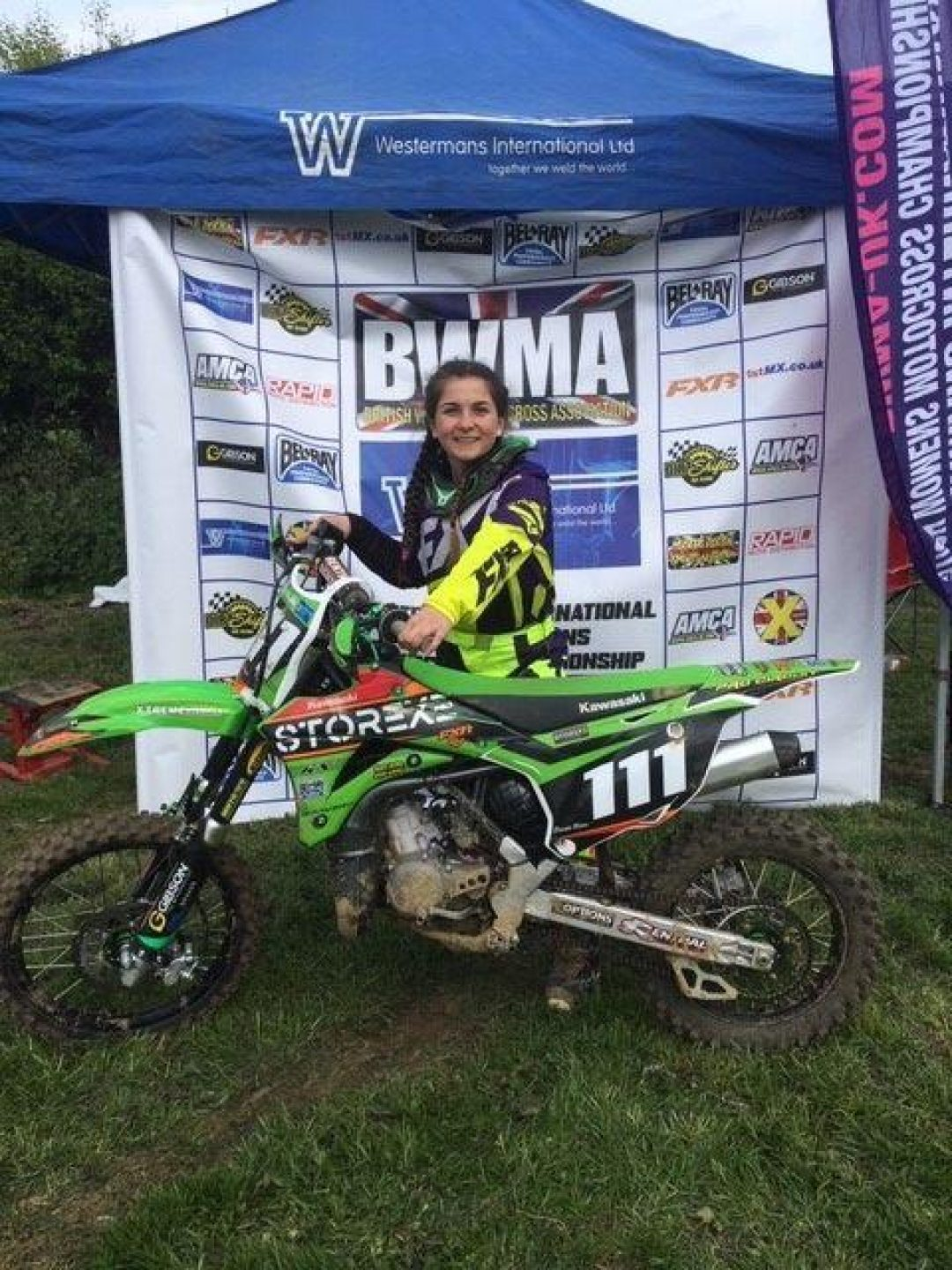 Beanie at the recent British Women's Motocross Championships