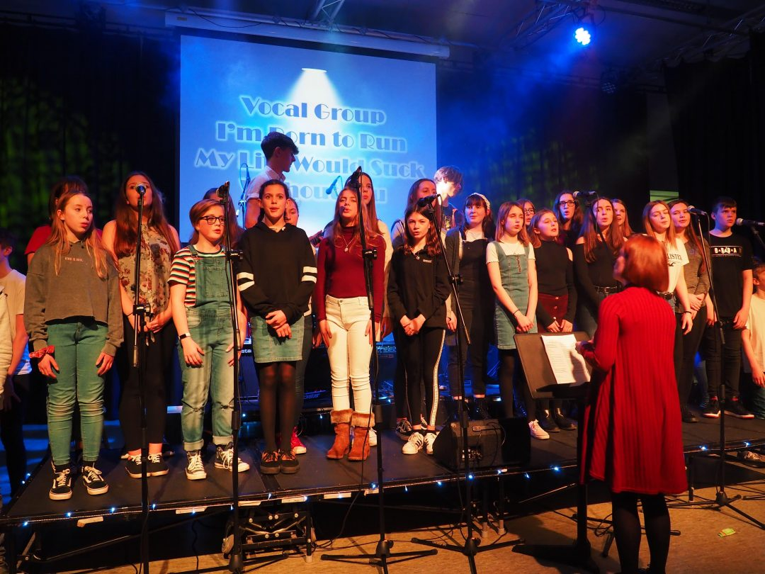 The College Vocal Group performed a number of songs