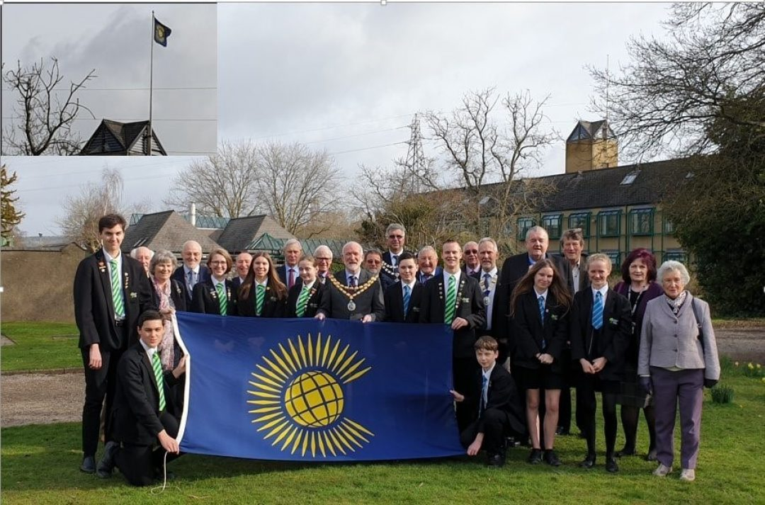 Students joined local dignitaries for the Raising of the Commonwealth Flag