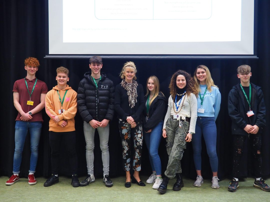 The inspirational talk was part of the College's 'Speakers for Schools' series