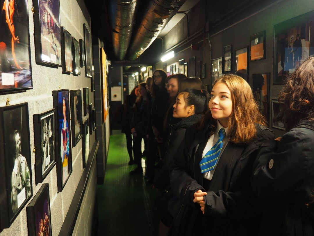 Students took part in a backstage tour at Plymouth's Theatre Royal
